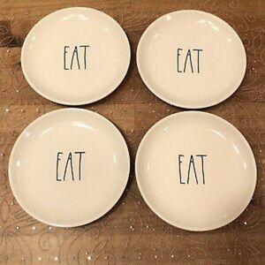 "Rae Dunn by magenta ""eat"" appetize 4 piece set"